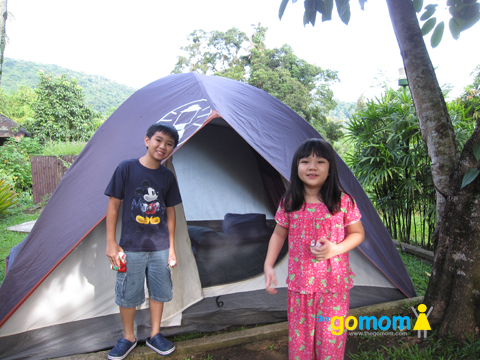 Camp site at Tagaytay Highlands