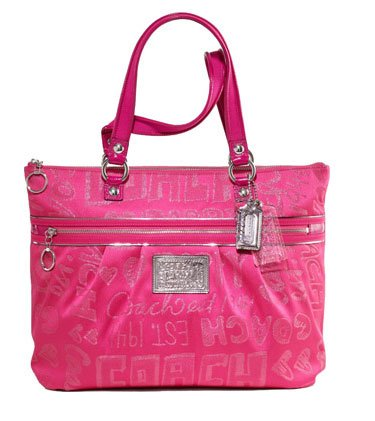 Pink Poppy Coach Purse