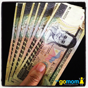 Giving Away Philippine Money