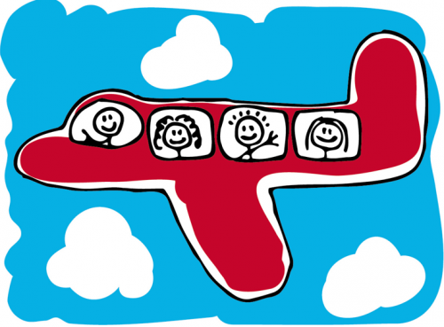 airplane with kids