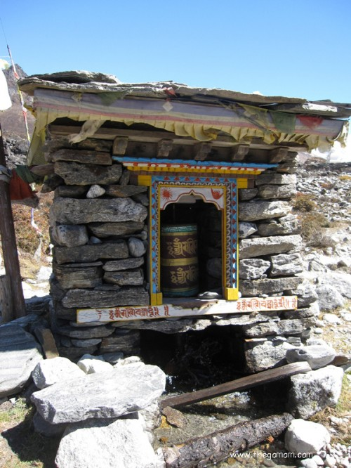 prayer wheels at langtang