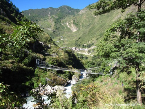 Hanging bridges at Langtang