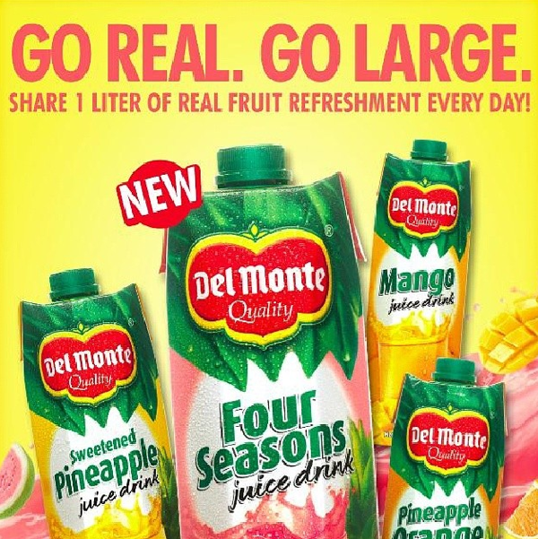 Del Monte Go Real Go Large New Tetra packaging