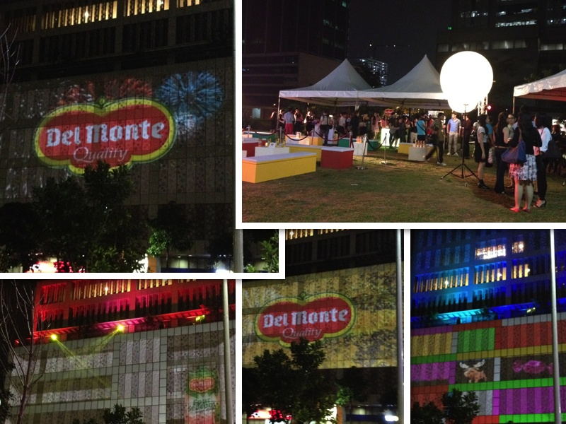 del monte go real go large 3d wall mapping