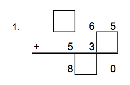 Addition & Subtraction Fill in Missing Numbers 3 Digits Worksheet (A) - Grade 2 (WAK)