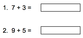 Addition Within 20 Worksheet - Grade 1