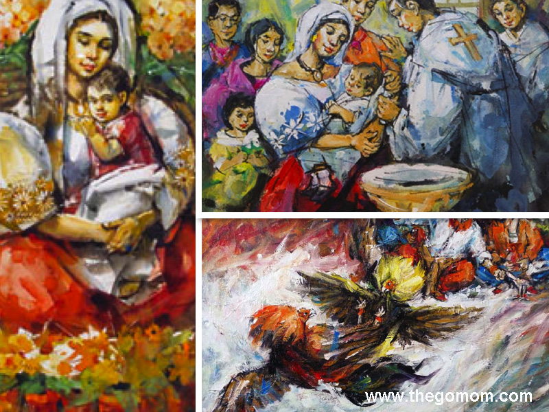 Angel Cacnio's paintings