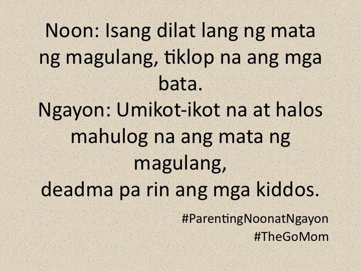 Parenting Noon at Ngayon