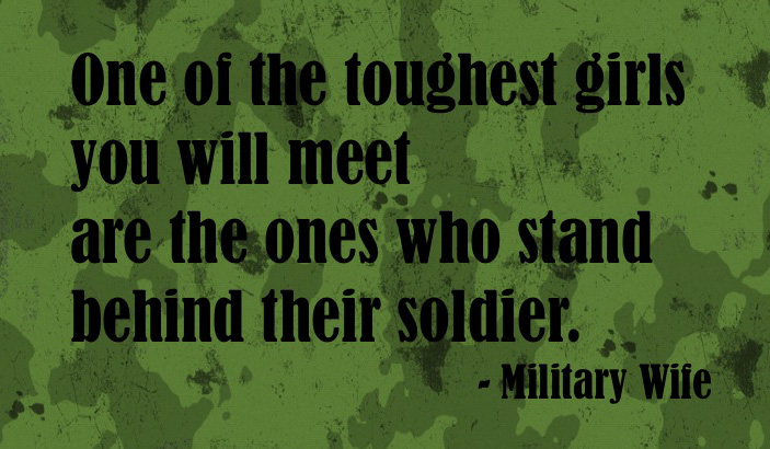 Military's wife quote