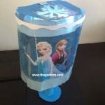 "Homemade ""Frozen"" Inspired Lampshade"