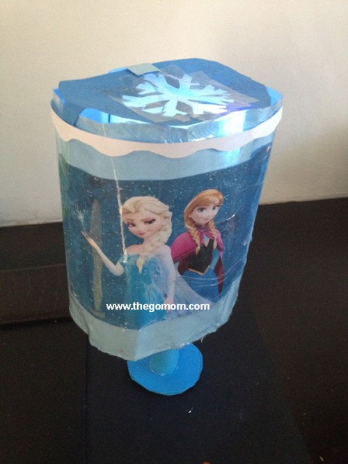 homemade frozen lampshade