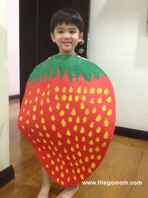 strawberry fruit costume
