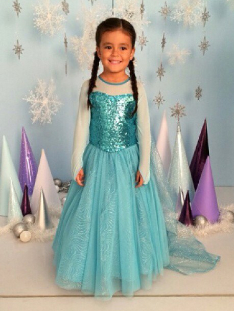 Elsa inspired costume by The Pumpkin Store