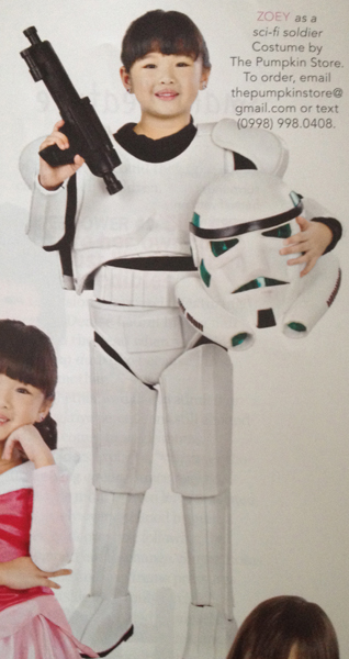 Star Wars Storm Trooper inspired costume by The Pumpkin Store