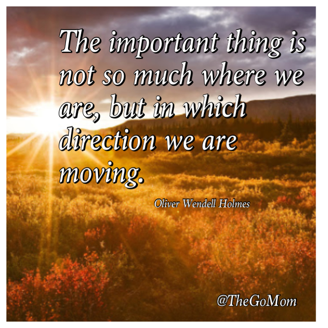The important thing is not so much where we are, but in which direction we are moving