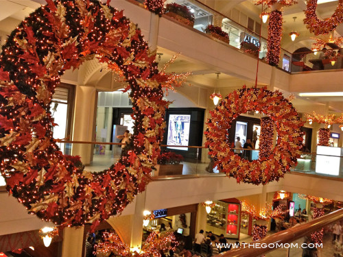 Festive and elegant wreaths give warmth to Rockwell.