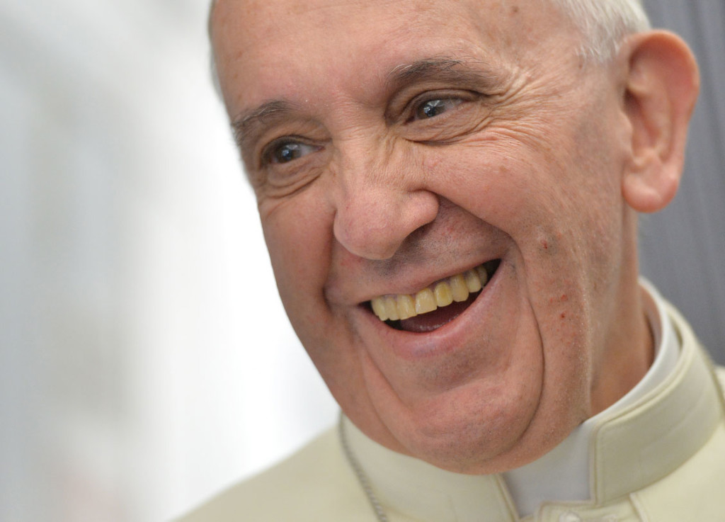 Smiling Pope Francis