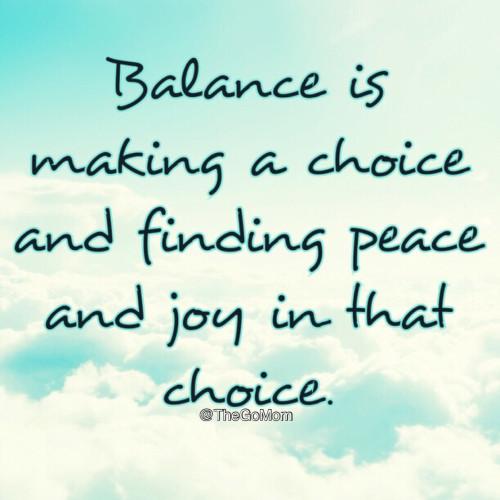 Quote on Balance