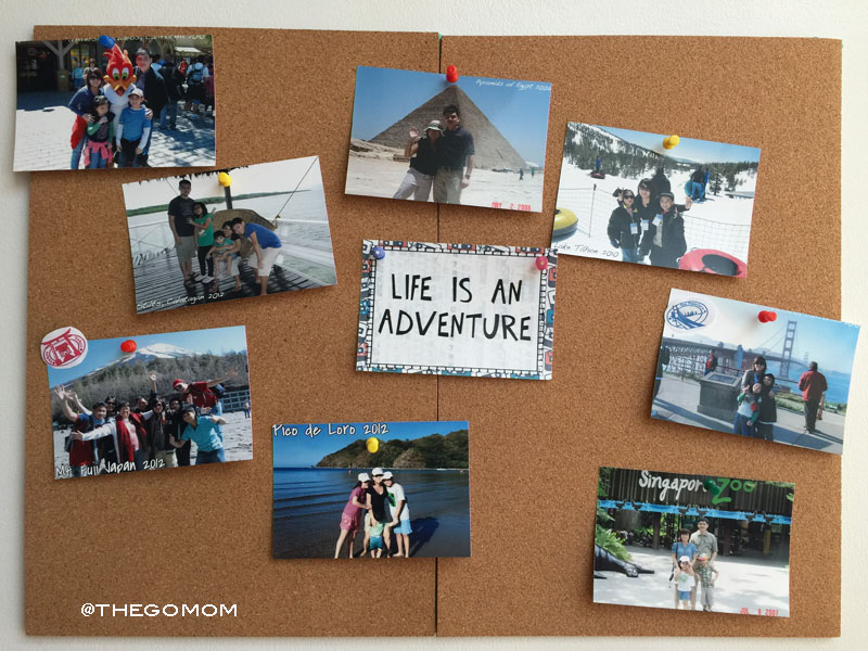 DIY Travel Pin Board using Corkboard