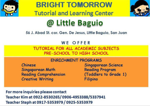 Bright Tomorrow Tutorial and Learning Center San Juan Metro Manila