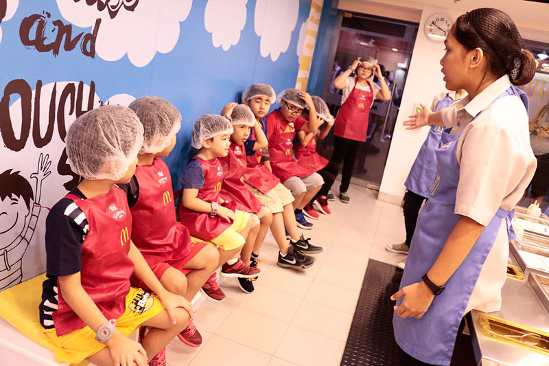 Mcdonalds Burger Shop at Kidzania Manila