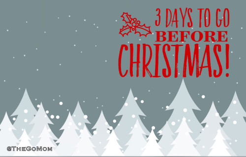 3 days to go before CHRISTmas quote