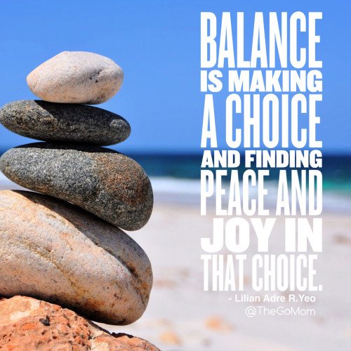 Quote about finding balance